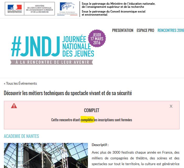 ARTEK Formations complet pour les JNDJ 2016